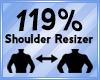 Shoulder Scaler 119%