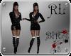 [BIR]Silver&Black Dress