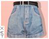 ✘ High rise shorts.
