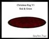 Christmas Fur Rug V1 Red