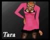 Winter Fur Dress Pink