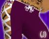 (J)purple bow flares