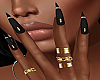 !P! Rings Black Nails