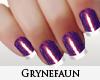 Purple nails manicure