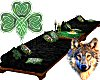 Celtic Wolf Long Couch
