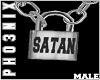 !PX SATAN LOCK NECKLACE