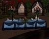 Blue Black Banquet Table
