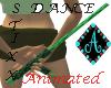 {Ama Dance Stick green