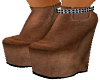 Brown  Low top boots