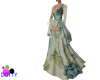 medieval blue rose gown