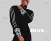 B.sage/blk stripe shirt