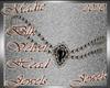 !a Blk Velvet Head Jewel