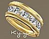 Gold Dia Wedding Band