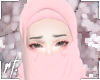 ¤ pink half niqab