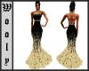Beautyfull Gown gold blk