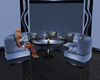 blue club sofa table