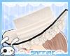 Victorian Rose Hat White