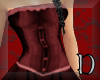 Lace Corset Gown red