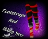 Footstraps Red