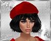 Black hair &Red Cap
