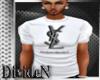 D: YSL White T-Shirt