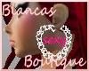 sexy heart hoop earrings