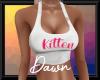 Busty White Kitten Top