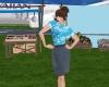 Hawaiian Air  hostess V1