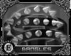 e| Spiked Bangles: Black