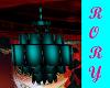 Teal Ceiling Lamp