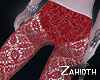 Gaga Red Lace Pants