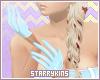Blue Nurse Gloves
