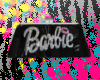 BLK BARBIE CLUTCH PURSE