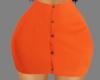 Orange Button-UP Skirt