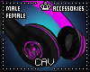 Pink Headphones M/F