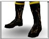 [JS] Black Gold Boots