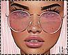 Pink Sunglasses Metallic