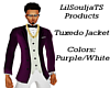 Tuxedo Top Purple&White*