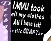 IMVU Took all my Clothes