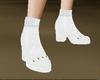 [NJ] Low Cut White Boots