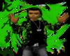 Ka$h:Green & blk hoodie