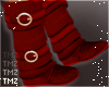 Sweater Boots -Red