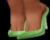 green spring slipon