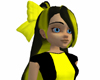 Black Yellow Alice Hair