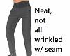Neat dress pants w seam
