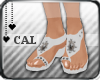 [c] Gem Sandals White
