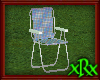 Metal Lawn Chair Blue