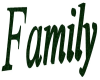 Green Family Sign