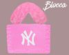 NY Fur Bag Pink. B