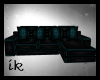 (IK)Teal cosy couch